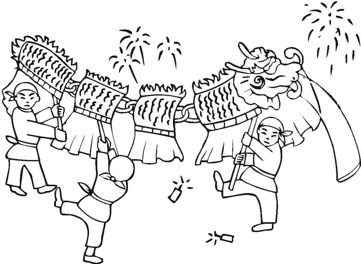 Chinese New Year Animals Coloring Pages
