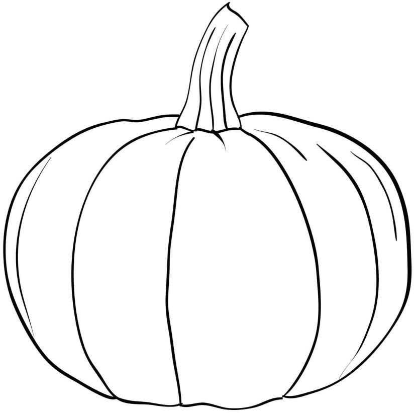 Pumpkin Coloring Pages Templatesdefault1