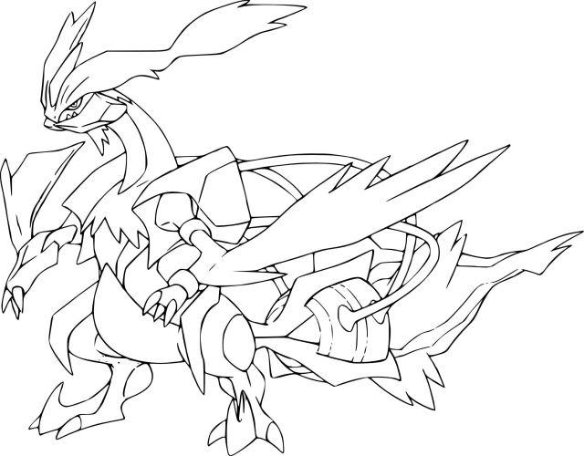 17 Coloriage A Imprimer Pokemon Zekrom Et Reshiram  Coloring