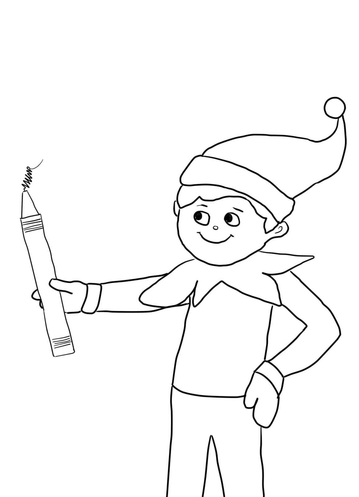 Elf On A Shelf Coloring Pages