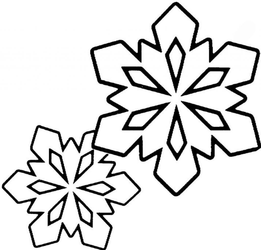 Snowflake Coloring Pages For Preschoolers