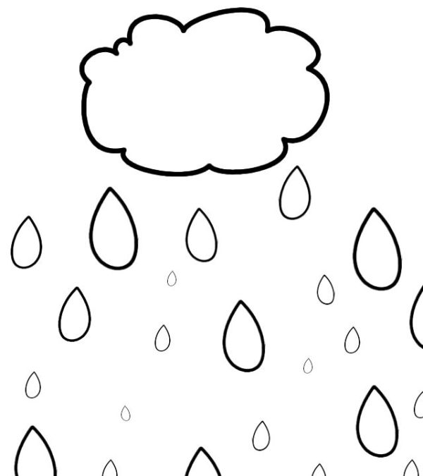 raindrop coloring page # 27