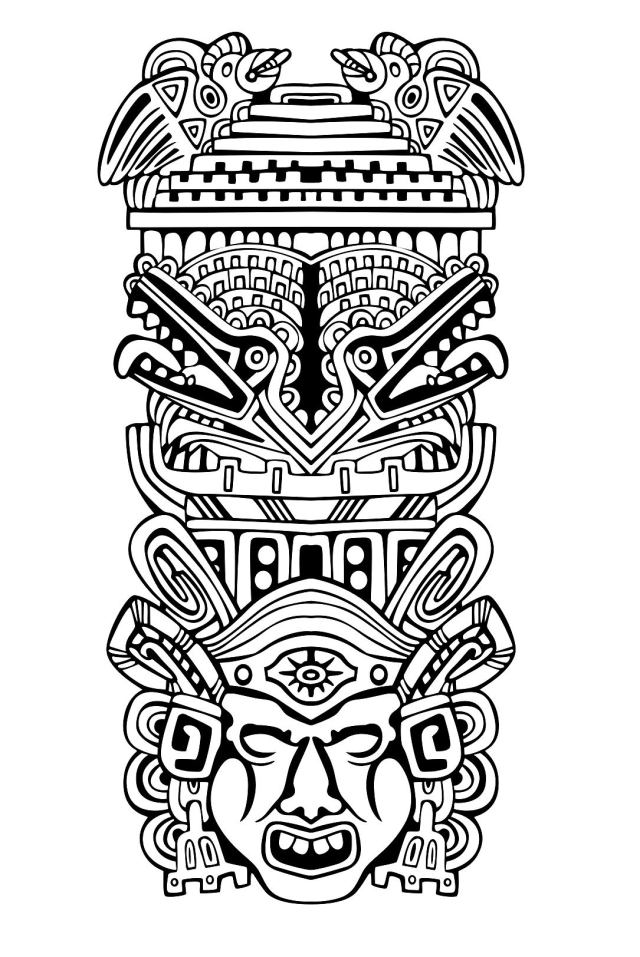 Mayans, Aztecs And Incas Coloring Pages On  - Coloring Home
