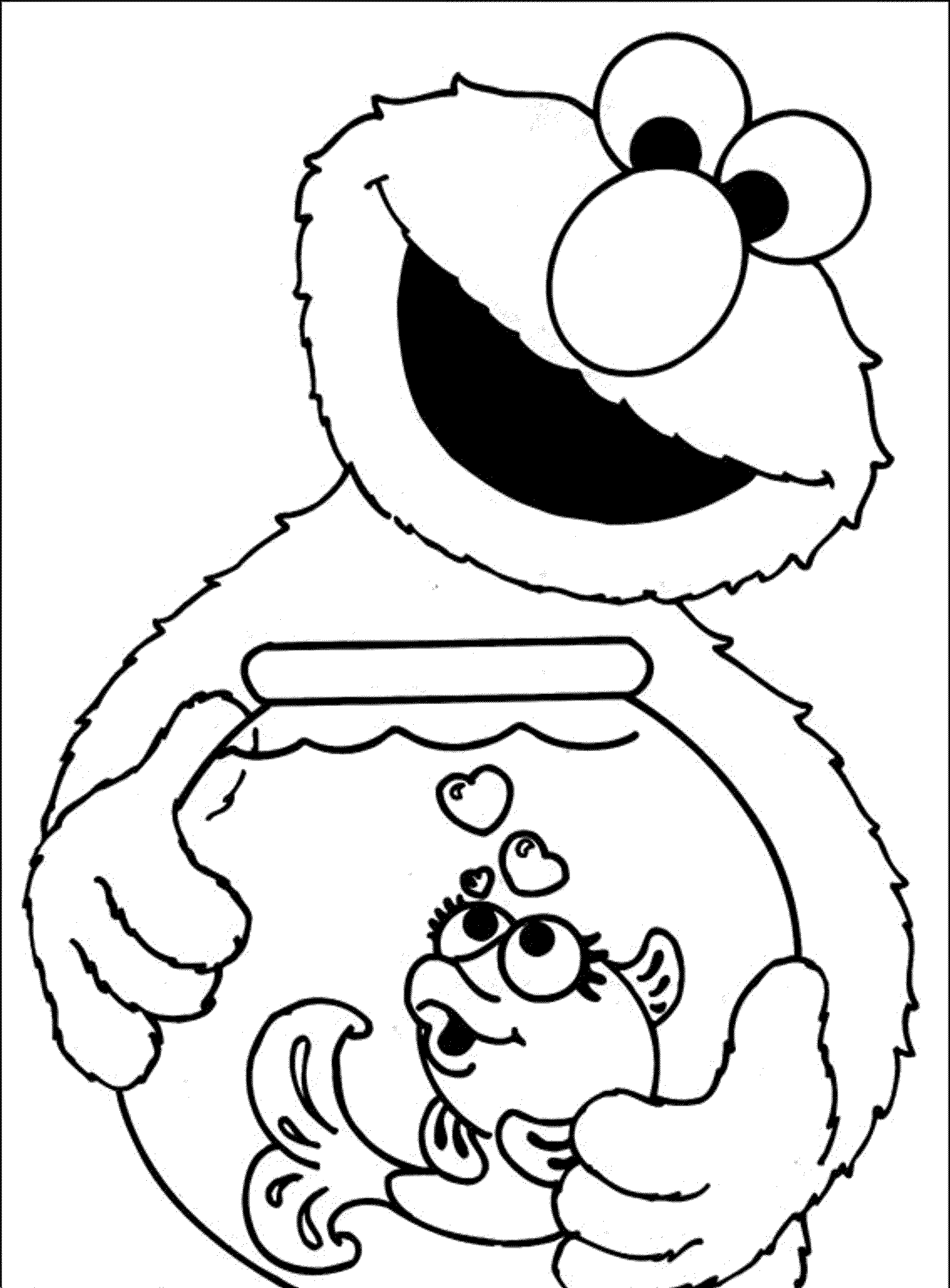 Elmo And Friends Coloring Pages