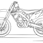 Motorcross Coloring Pages Coloring Home