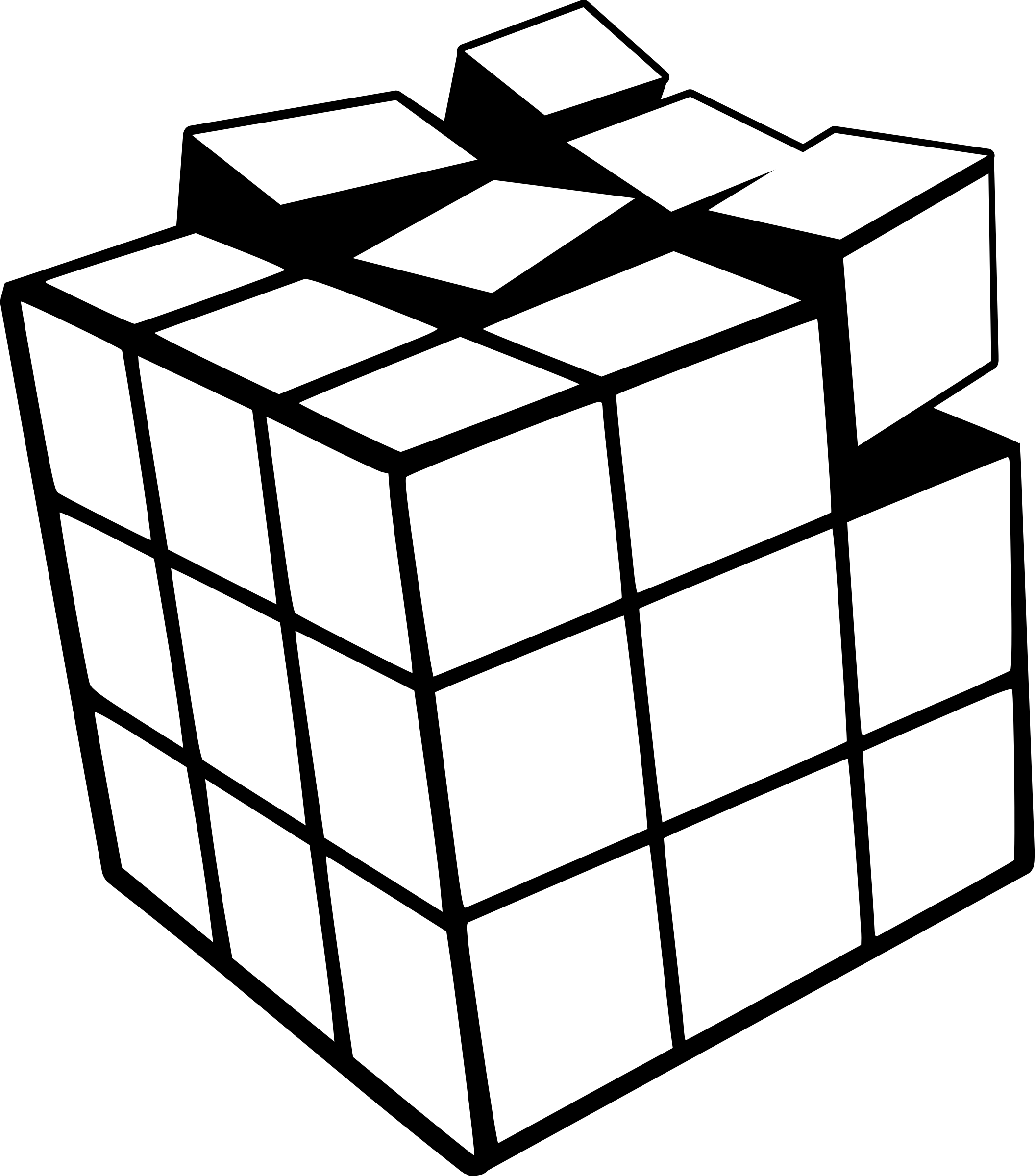 Rubik Cube 3d Coloring Page