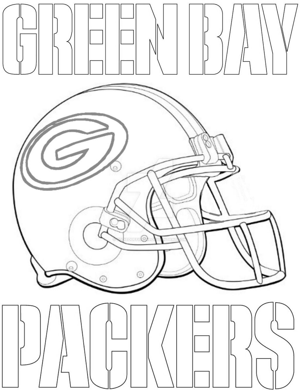 Packers Football Helmet Coloring Page