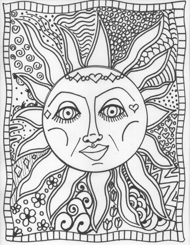 Trippy Coloring Pages To Print - Coloring Home