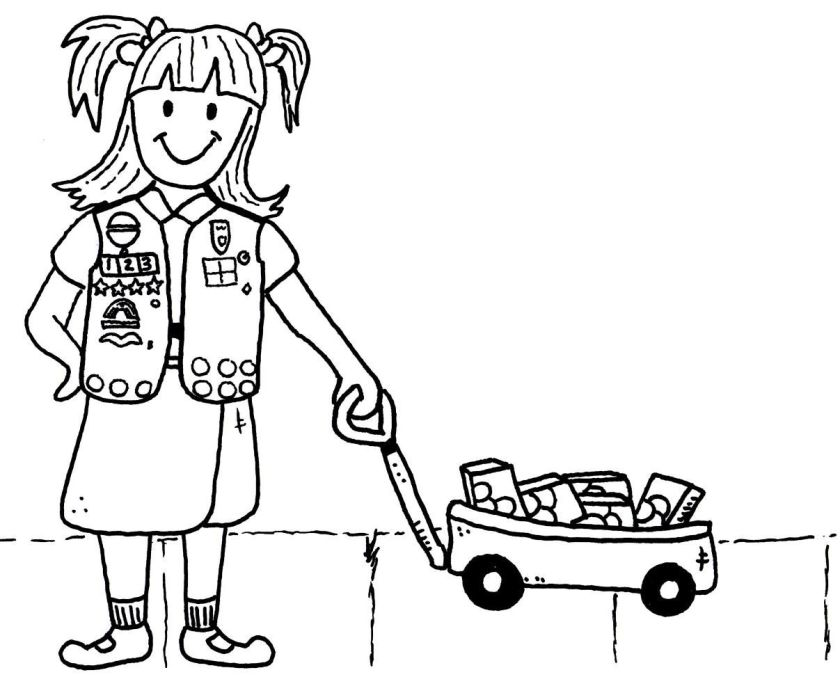 girl scout brownies coloring pages  coloring home