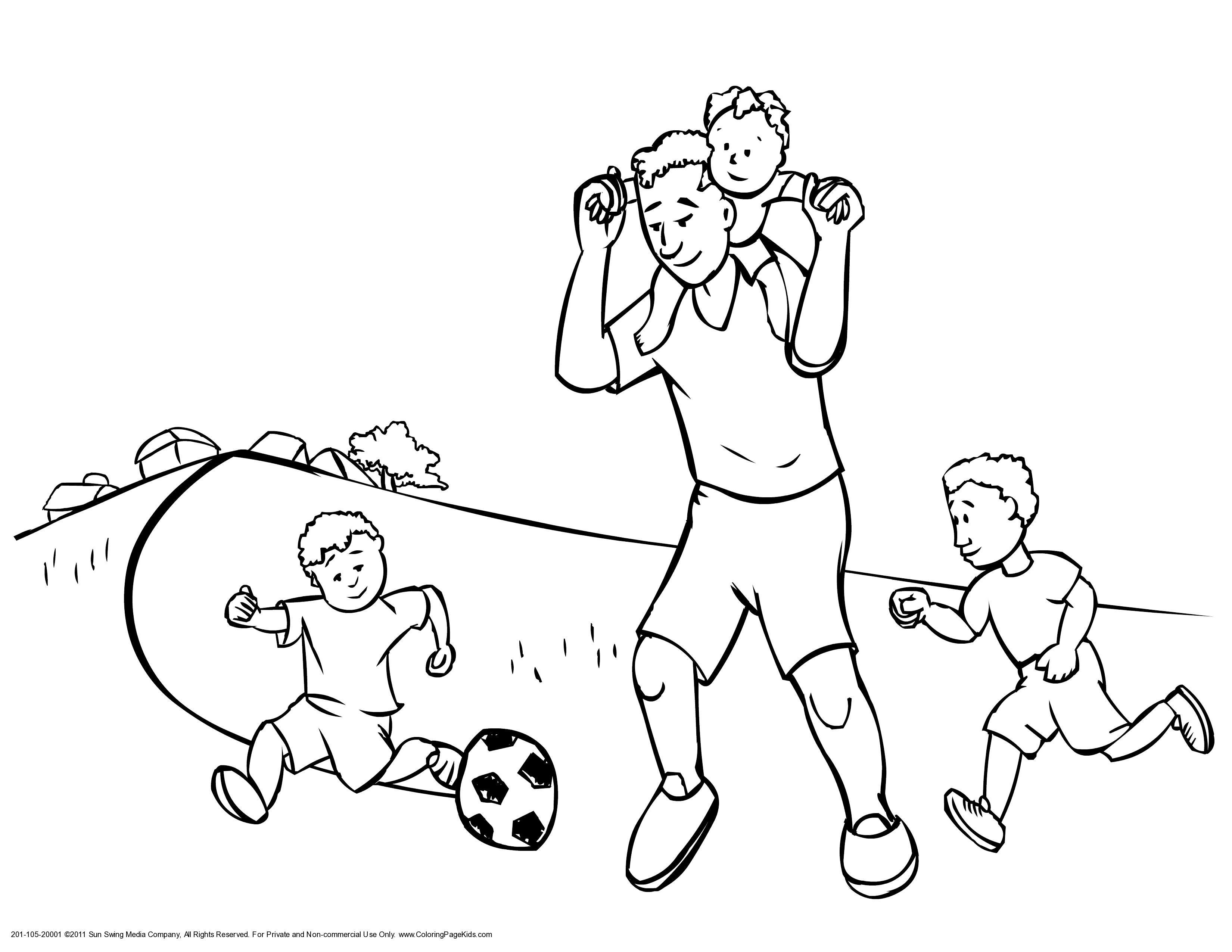 Kids Play Soccer Coloring Pages For Kids