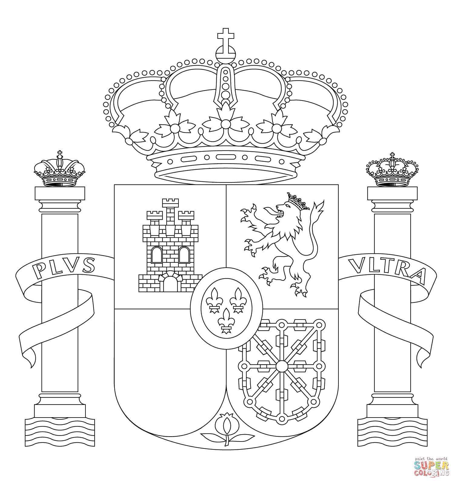 Kids Coloring Page For Spain