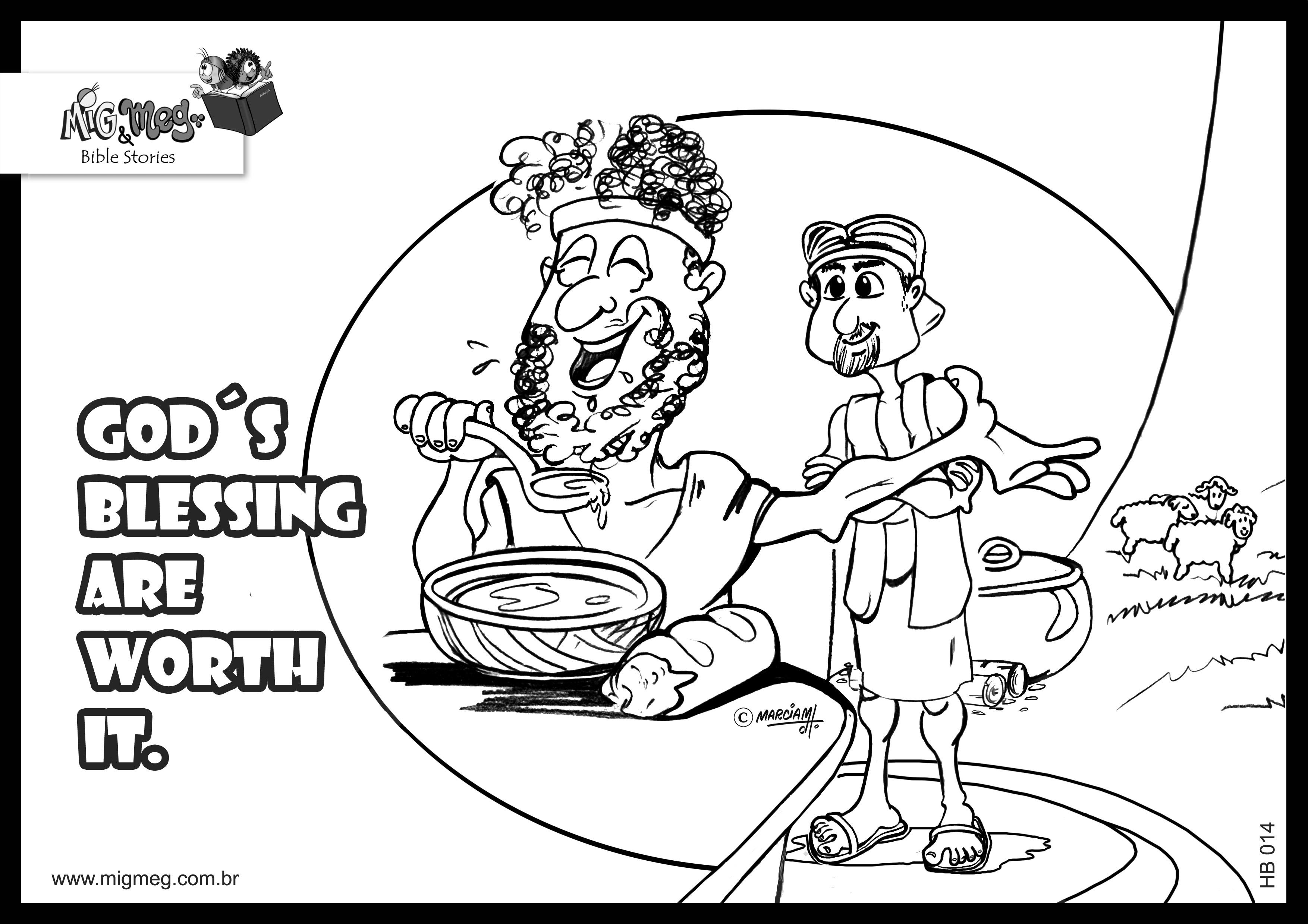 Free Coloring Pages Jacob And Esau