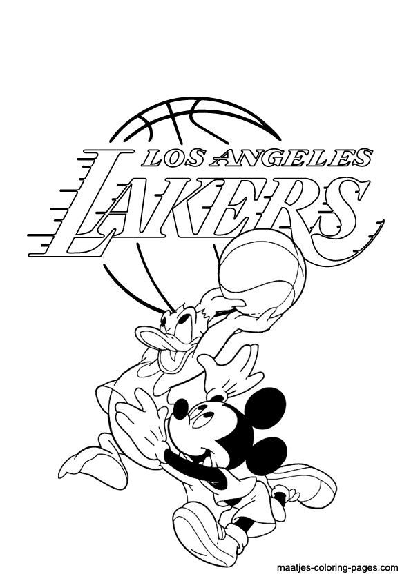 lakers coloring pages  coloring home