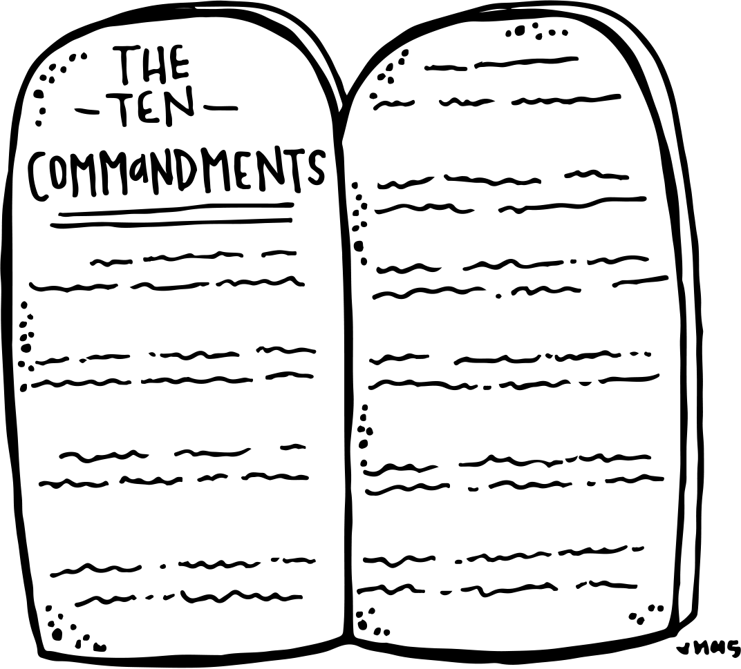 10 Commandments Lds Coloring Page