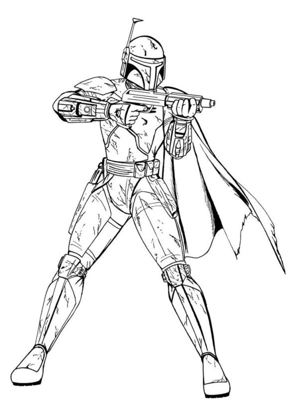 boba fett coloring page # 7