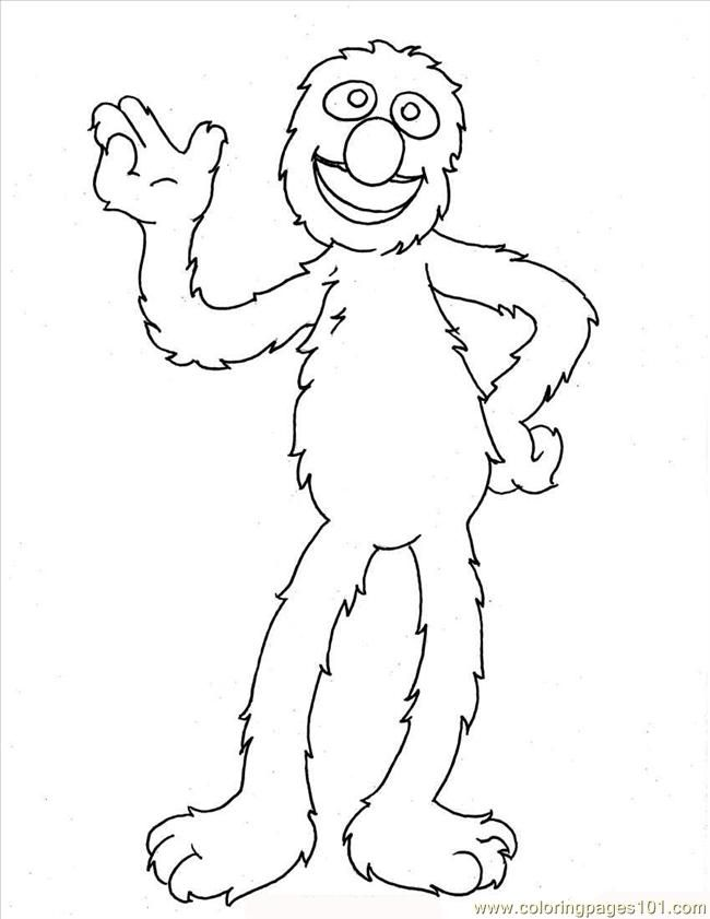 Grover Sesame Street Coloring Pages