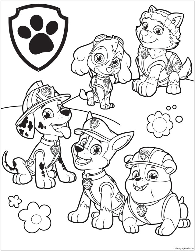 Paw Patrol Coloring Page Free Pages Online Halloween €  Slavyanka