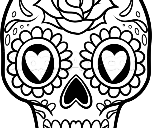 Pics Of Easy Skull Coloring Pages Easy To Draw Sugar Skull