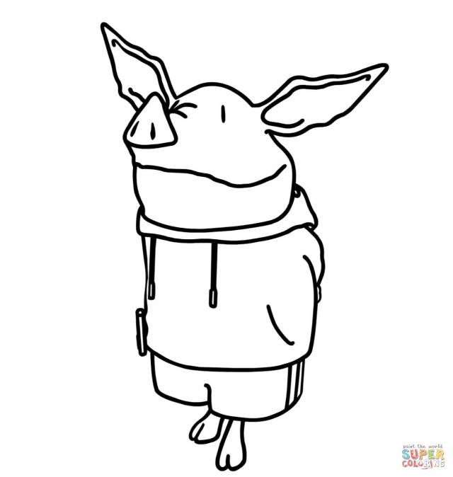 Olivia The Pig Coloring Page - Coloring Home