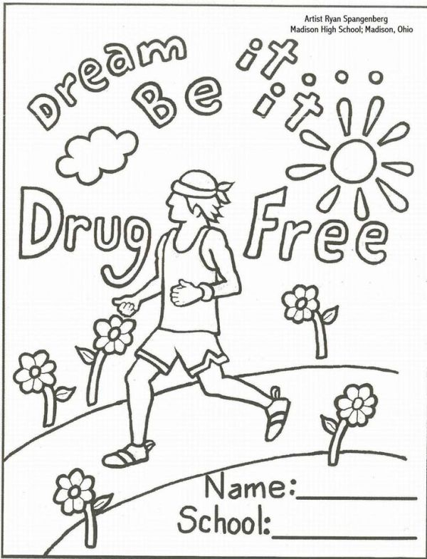 red ribbon week coloring pages # 7