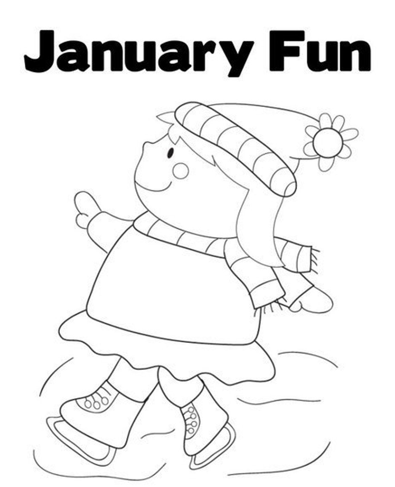Winter January Coloring Pages