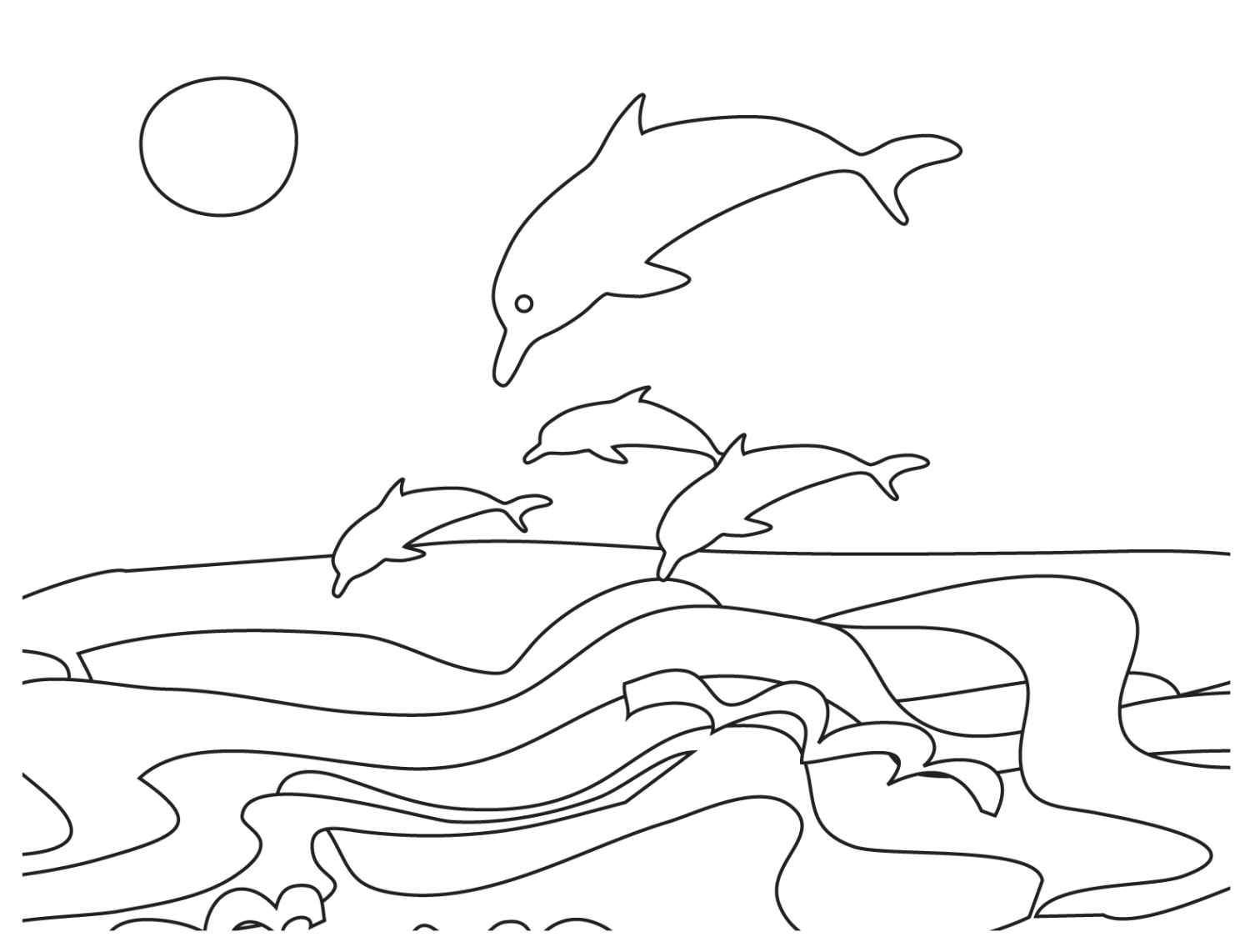Coloring Pages Of Ocean Scenes