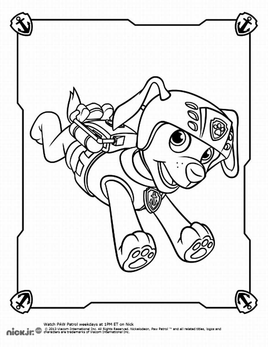 Zuma Paw Patrol Coloring Pages Coloring Home
