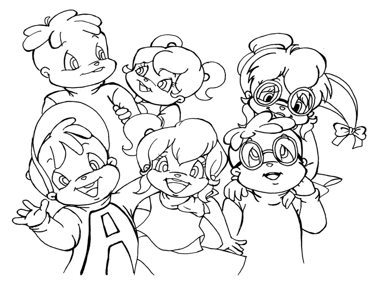 Alvin And Chipmunks Coloring Page
