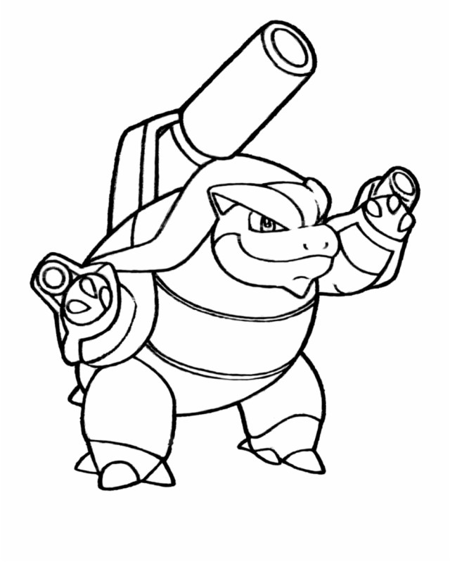 Awesome Pokemon Coloring Pages Mega Image Ideas Blastoise Intended