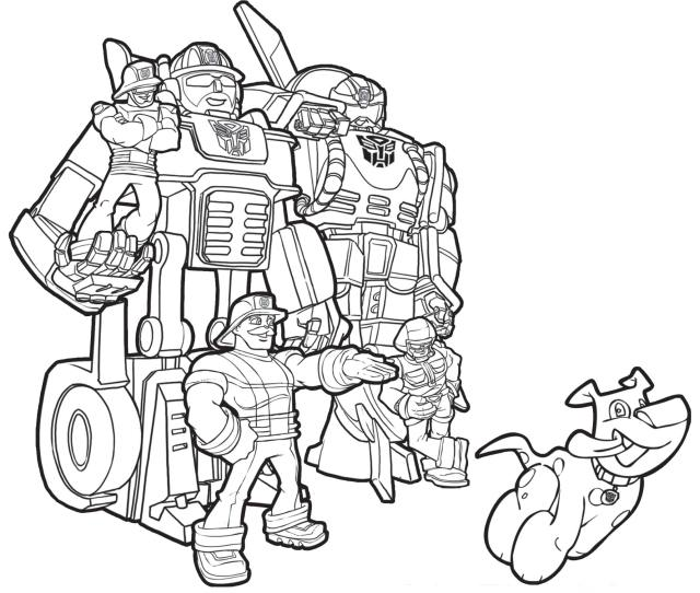 Coloring Pages Rescue Bots Coloring Home