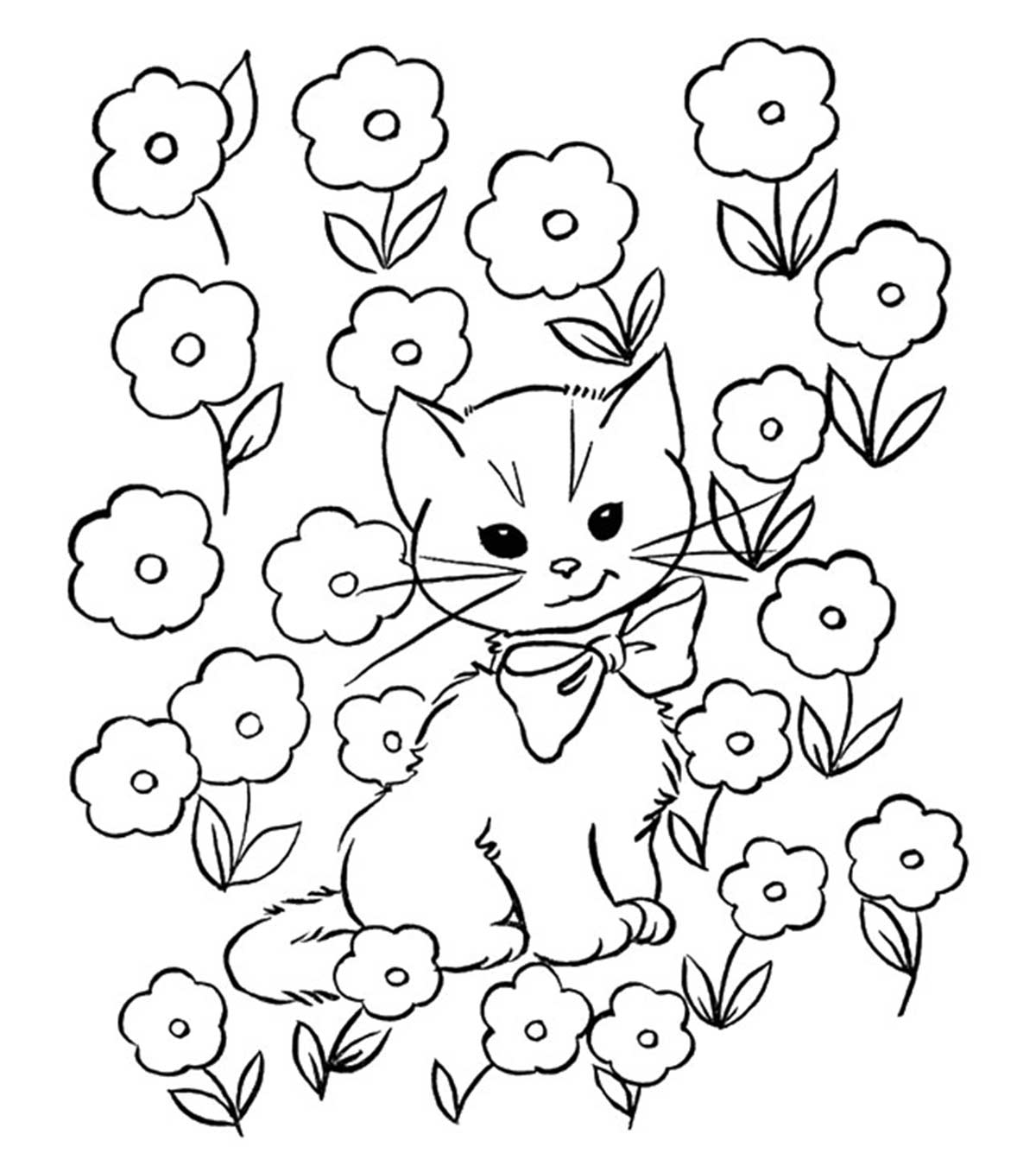 Cute Cats Coloring Pages