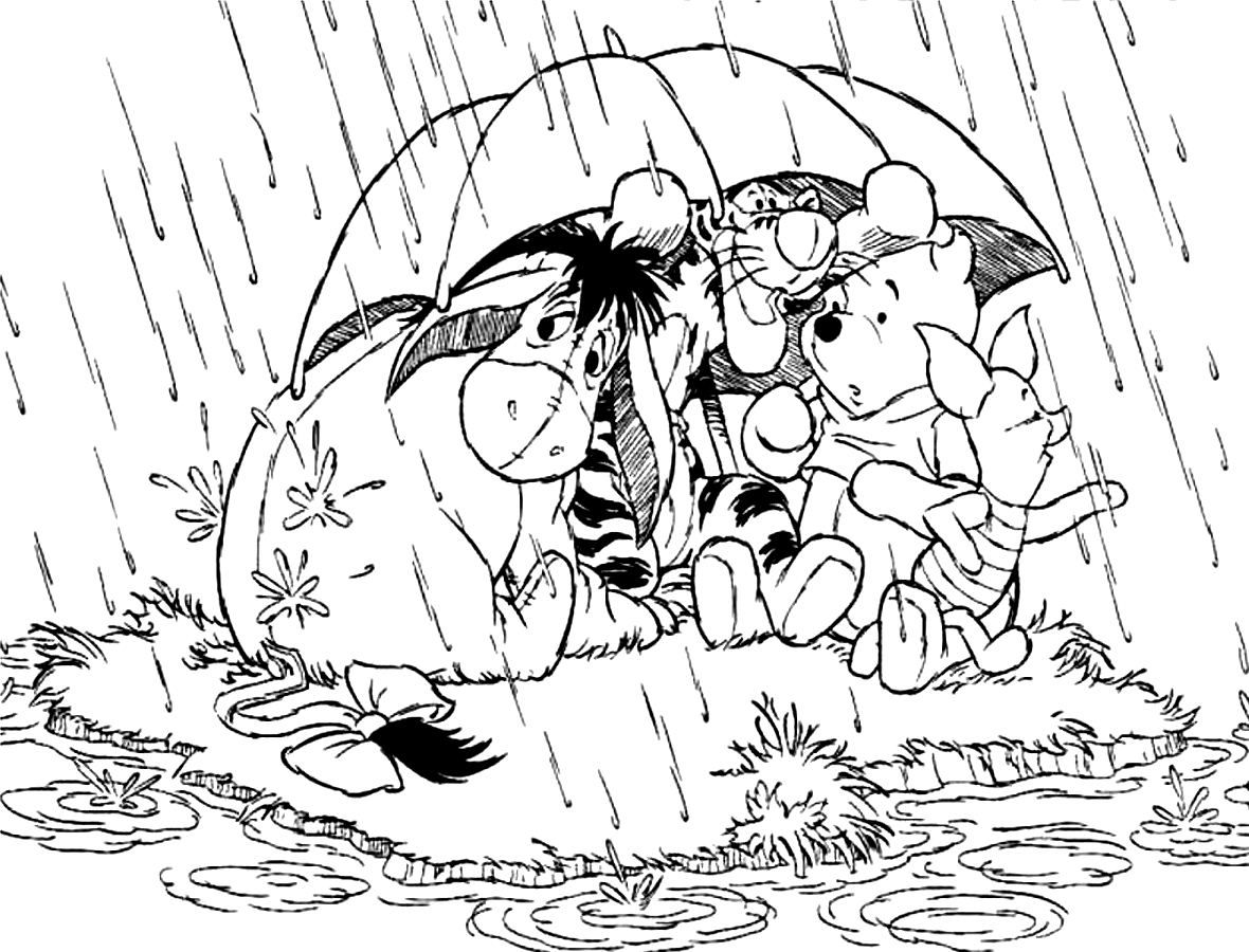 Rainy Day Coloring Pages Free