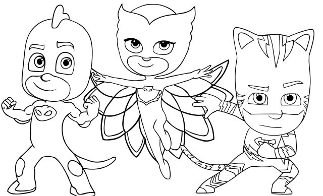Coloring Book ~ Free Coloring Pages For Kids Printable Pj Masks To