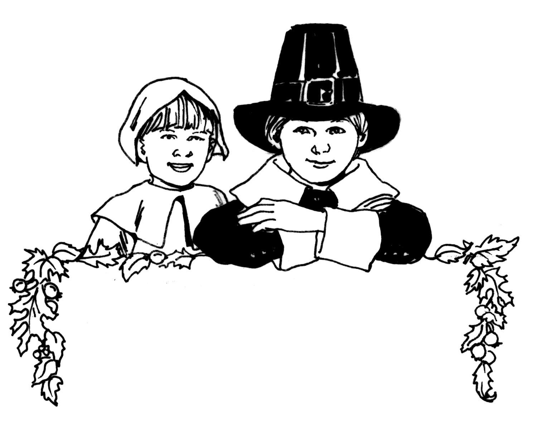 Thanksgiving Coloring Pages Pilgrims Praying