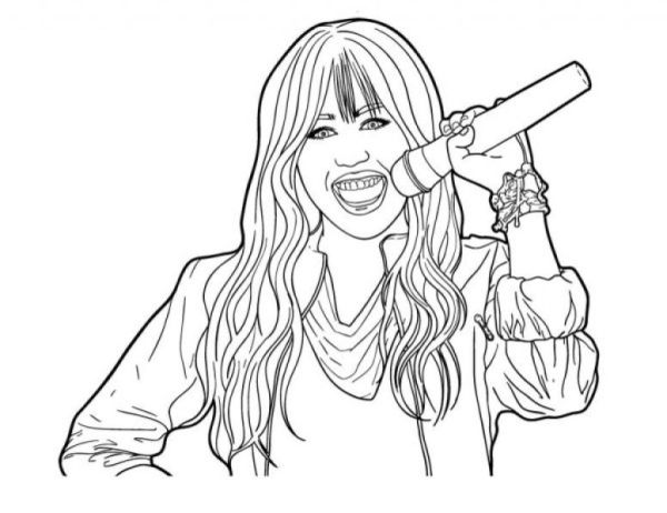hannah montana coloring pages # 14
