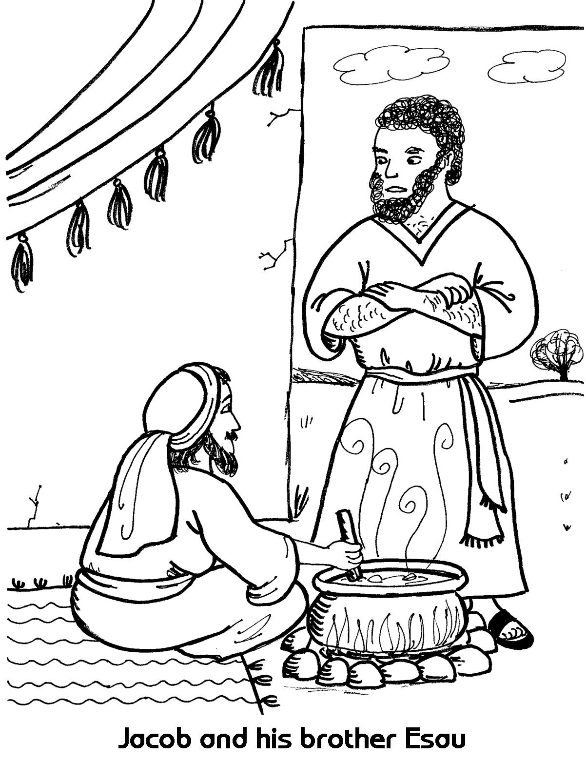 Jacob Meets Esau Coloring Pages