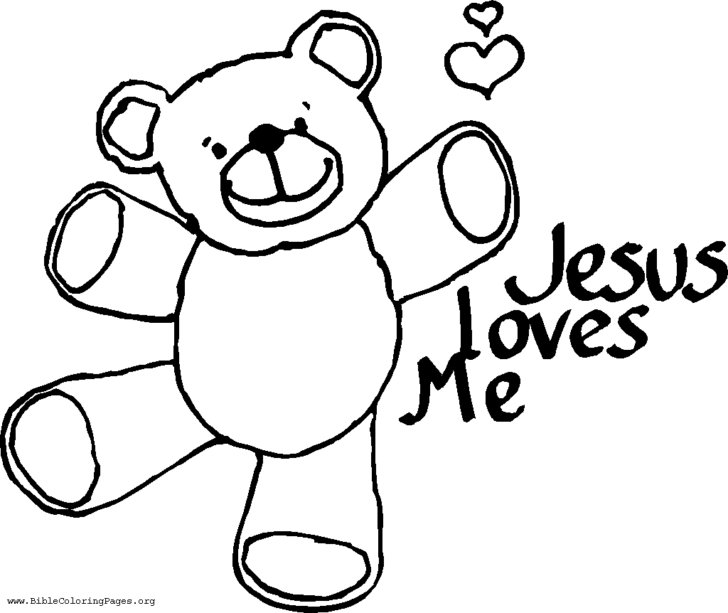 Coloring Pages For Kids About Jesus Love