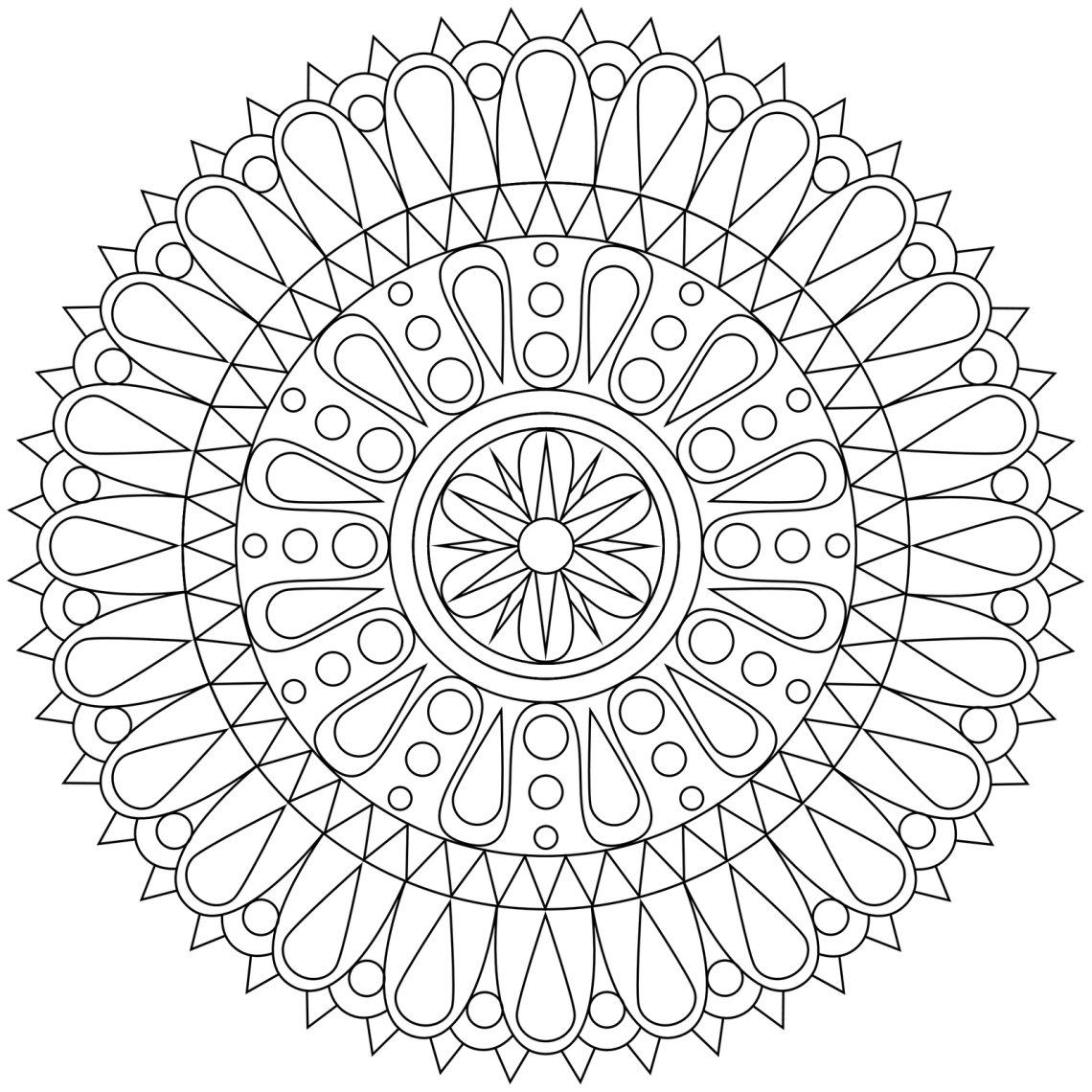 Free Mandala Coloring Pages For Adults - Coloring Home | printable mandala coloring pages