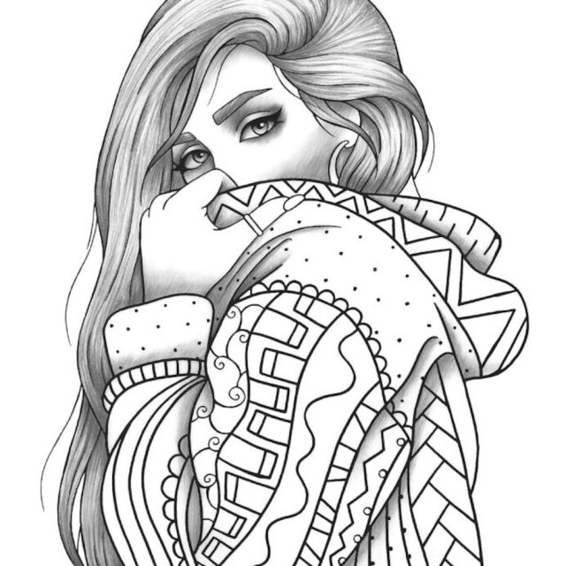 Realistic Girl Coloring Pages - Coloring Home