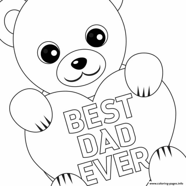 Best Dad Ever Coloring Pages - Coloring Home