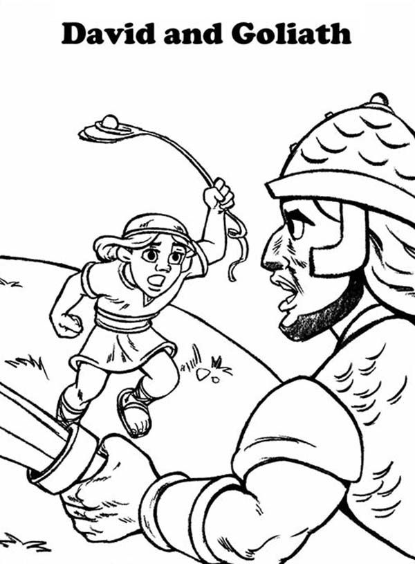 Free Printable Coloring Pages David And Goliath Coloring Home