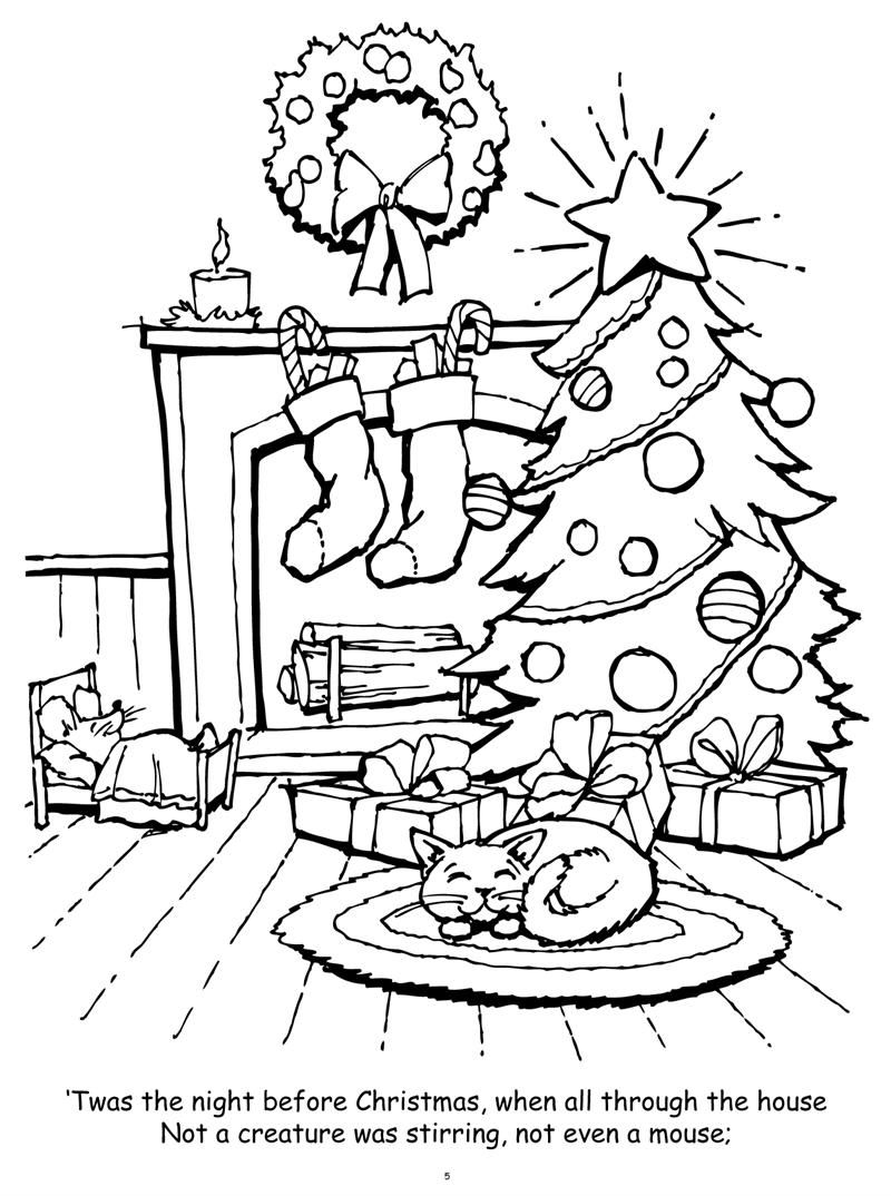 Night Before Christmas Coloring Pages Free Coloring Pages ... | christmas coloring pages  book