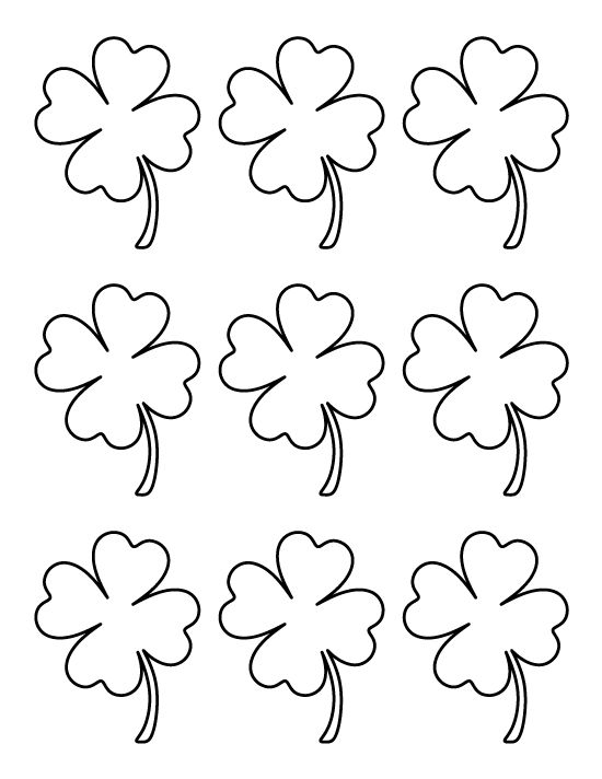 four leaf clover template  coloring home