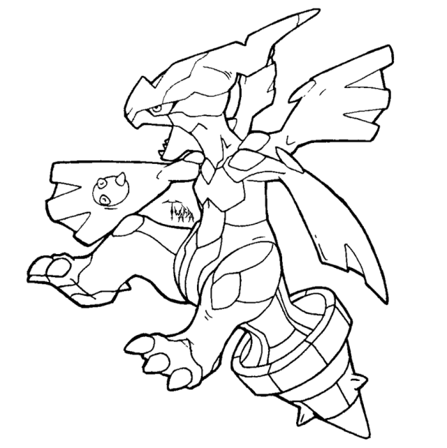 Zekrom Pokemon Coloring Pages - Coloring Home