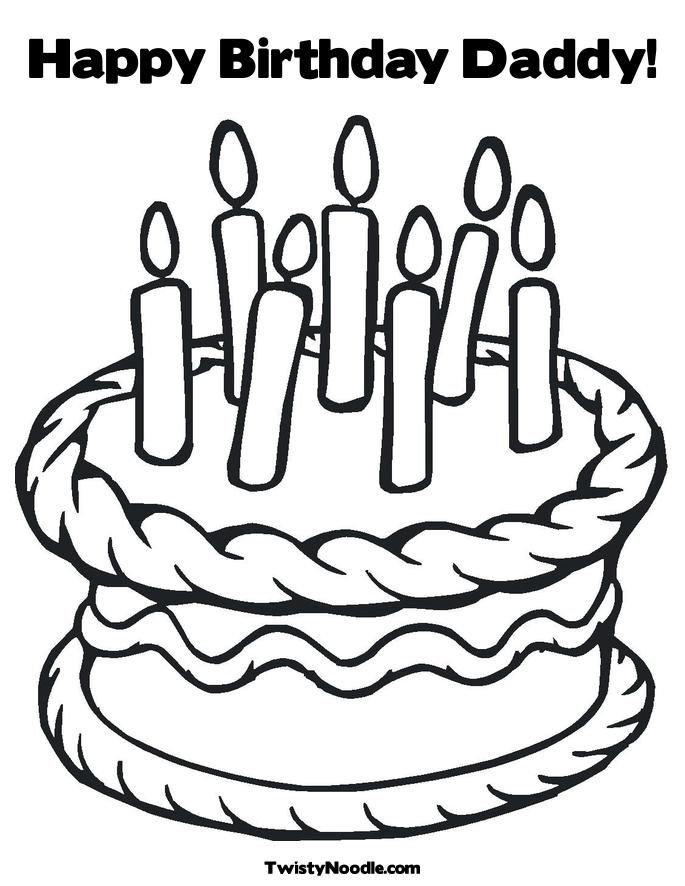 Happy Birthday Coloring Pages For Dad Coloring Home