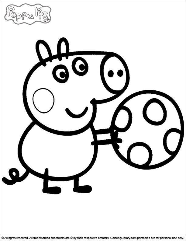 peppa pig coloring pages  coloring home
