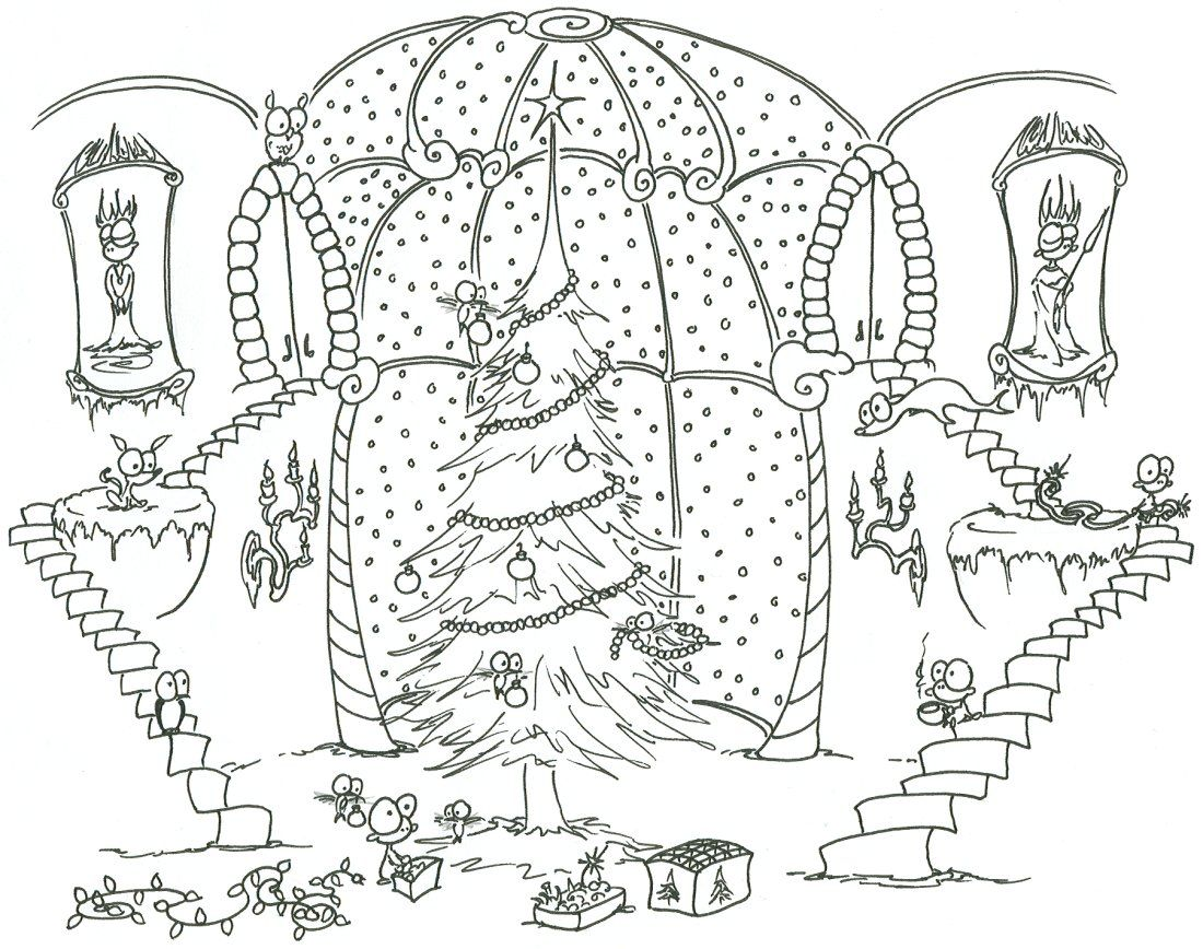 Free Printable Online Christmas Coloring Pages Coloring Home