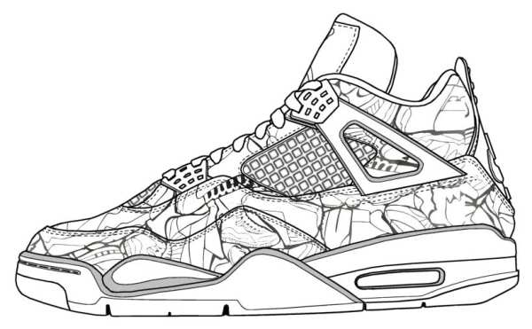 jordan shoe coloring pages # 8