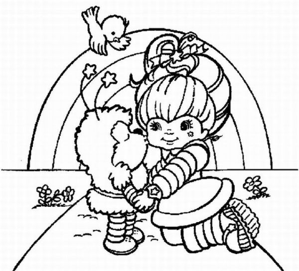 rainbow brite coloring pages # 1