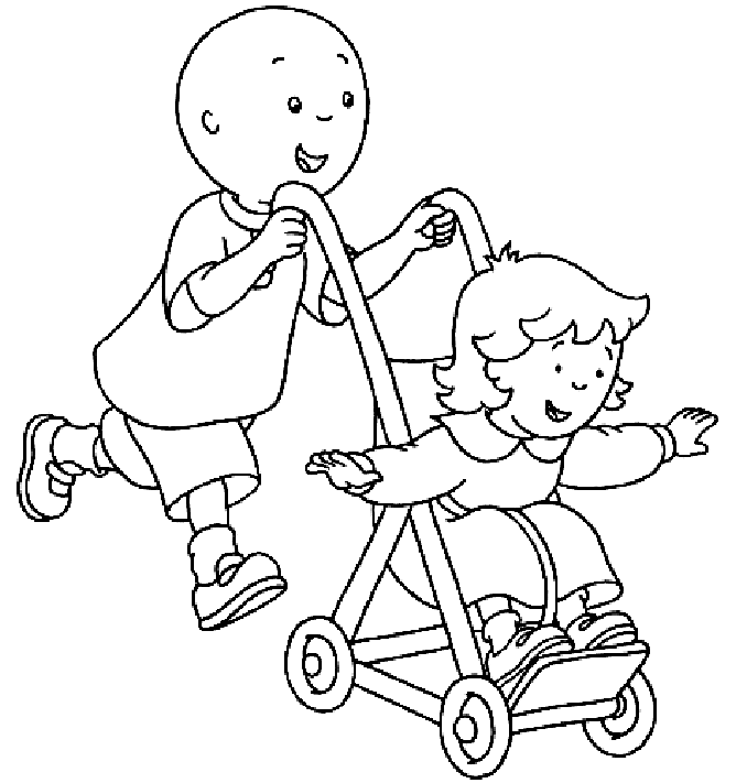 Caillou Coloring Pages And Book Uniquecoloringpages Coloring Home